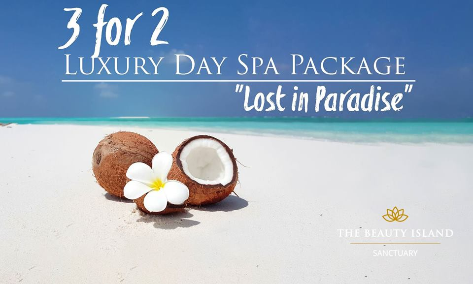"""3 for 2 """"Lost In Paradise"""" Spa Package"""