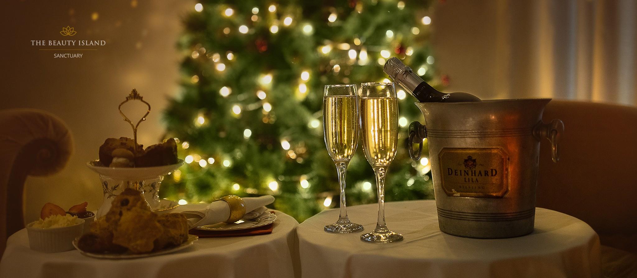 ChristmasTea TheBeautyIsland webiste longimage logoon8 1 - Festive Spa Afternoon Tea   Christmas Edition Only